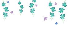 水彩手描き蔦デザイン