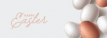 Happy Easter Banner With Natur...