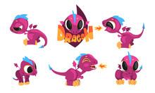 Adorable Purple Little Dragons...