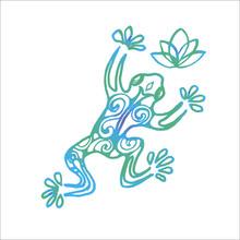 Color Illustration Of A Frog I...