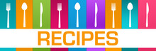 Recipes Colorful Boxes Spoon F...
