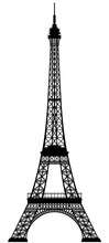 Vector Silhouette Of The Eiffel Tower