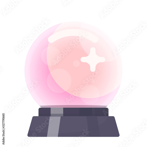Crystal ball or magic glass sphere for fortune telling Canvas Print