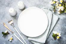 Spring Table Setting With Plat...