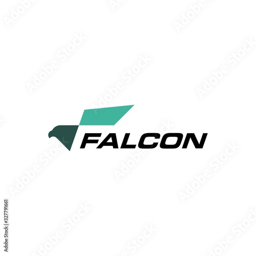 Photo eagle falcon bird logo vector icon illustration