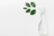 Spray For Eco Friendly Natural Cleaning, White Background