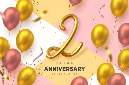 Fotomural 2 years anniversary celebration banner