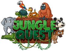 Font Design For Word Jungle Qu...