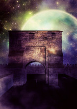 Medieval Fortress Over Starry ...