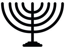 Vector Illustration Of Jewish Menorah Icon