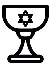Vector Illustration Of Jewish Hanukkah Grail Icon