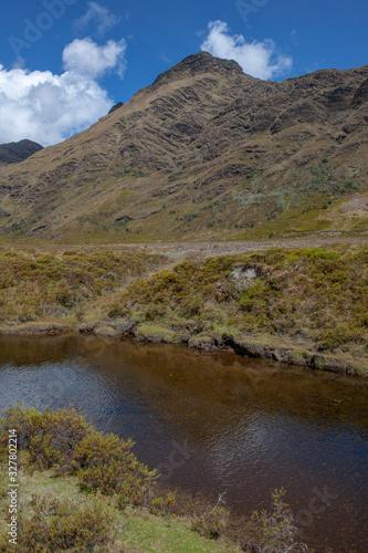 La Laguna Carpa - Tantamayo, Huánuco Peru Lake and mountains Andes #327802214