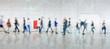 Leinwandbild Motiv Digitale Vernetzung von Geschäftsleuten als Konzept