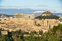 Acropolis Hill With Parthenon ...