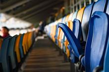 Close Up Of The Stadium Seat C...