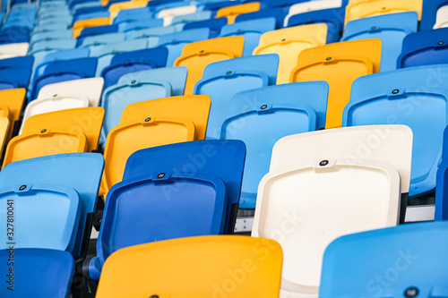 Close up of The Stadium seat colorful Canvas Print