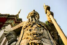 Beautiful Photo Of Buddist Statue, Bangkok City Taken In Thailand