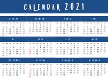 Calendar For 2021.