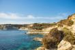 beautiful rocky coastline and sea Malta landscape