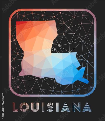 Photo Louisiana map design
