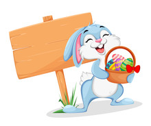 Funny Easter Bunny Cartoon Cha...