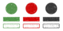 Rubber Stamp Set, Rount And Re...