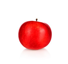 One Whole Red Apple Isolated O...