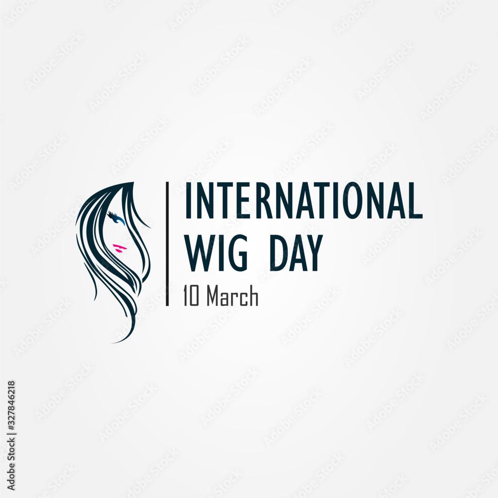 Fototapeta International wig day 10 March sign, symbol, and logo. vector illustration.