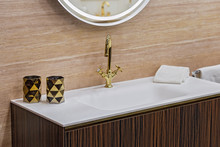 A Beautiful Washbasin With A G...