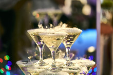 Martini Glasses In The Form Of...
