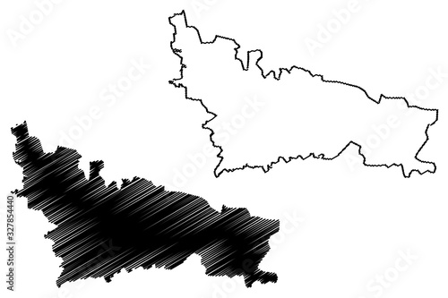 Nicosia City (Republic of Cyprus, Northern Cyprus, island) map vector illustrati Fototapet