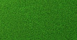 Detailed green soccer field grass lawn texture from above, background texture