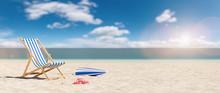 Beach Chair With Flip-flops An...