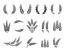 Wheat Wreaths And Grain Spikes...