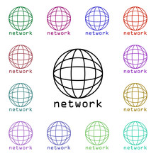 Global Network Multi Color Sty...