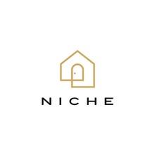 Niche Door House Logo Vector I...
