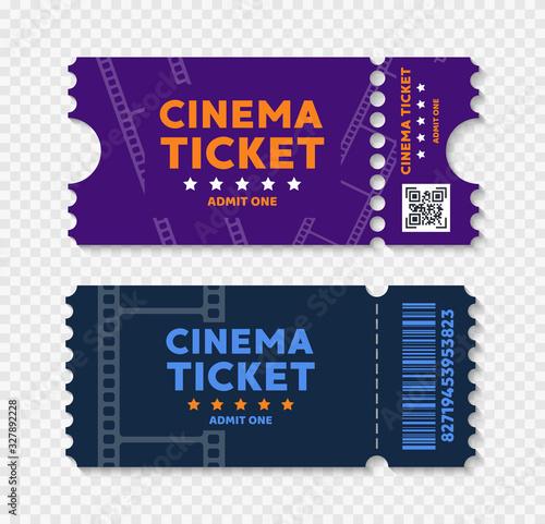 Photo Cinema tickets on background