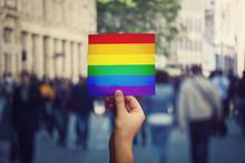 LGBT Community Member Holding ...