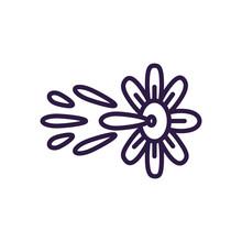 Squirt Flower Prank, Line Styl...