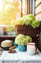 Summer Porch Decoration With F...