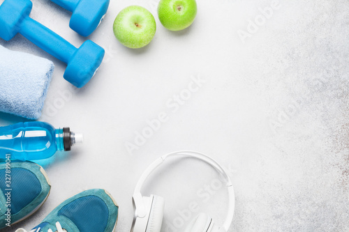 obraz PCV Fitness equipment for workout