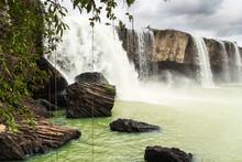 Waterfalls Dray Nur And Dray Sap In The Dak Lak Province, Vietnam. Beautiful Landscape.
