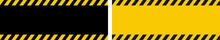 Danger Warning Banner With Bla...
