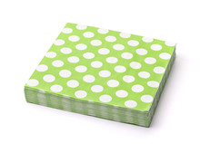 Stack Of Green Dotted Paper Na...