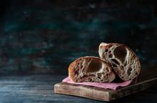 Homemade Loaf Of Freshly Backe...