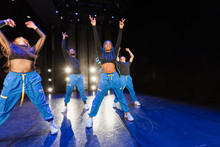 Hip-hop Dancers Performing On Stage
