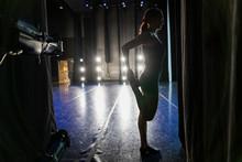 Silhouette Female Dancer Stret...