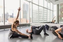 Dancer Stretching In Urban Dan...
