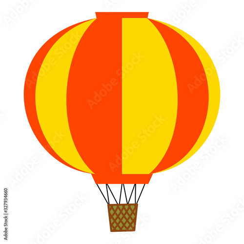 Photo Vector illustration of aerostat