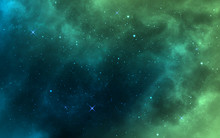 Space Background. Green Realis...